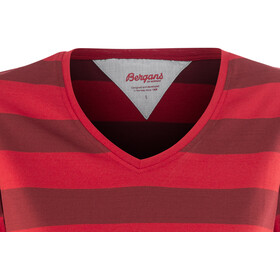 Bergans Bastøy - Camiseta manga corta Mujer - rojo